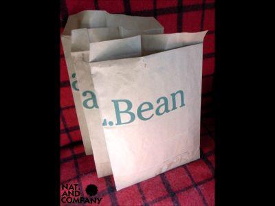 L.L.Bean紙袋からリサイクル封筒!