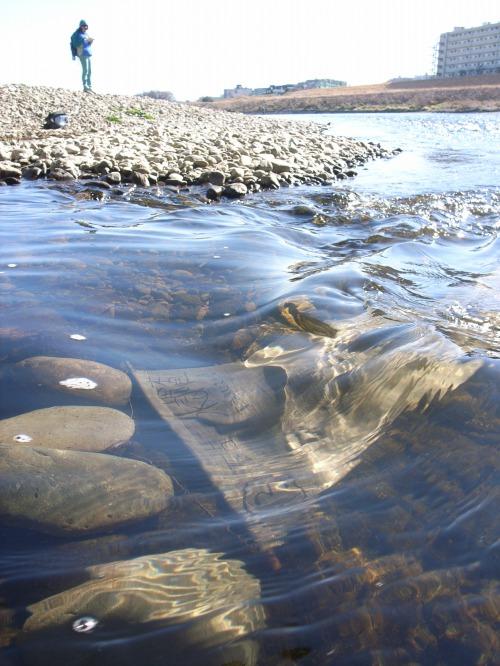 リネン布による多摩川の放射能汚染調査★2019年1月