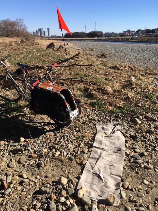 リネンによる多摩川の水の放射能調査。2018.1.14