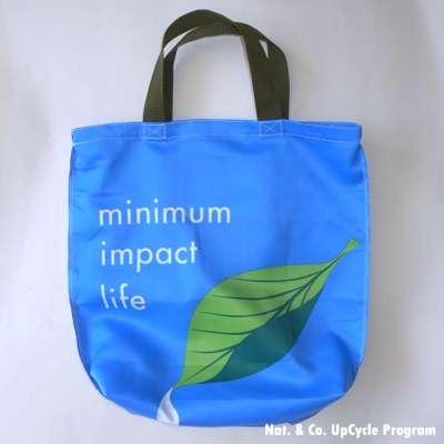 葉っぱのしずくアップサイクルバッグ