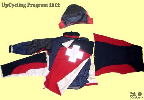 アップサイクル GoreTexスキーパトロールジャケットのリサイクル(1)