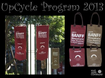 Upcycled Waxed Cotton Canvas Banner, Banff Mtn. film Fes. [アップサイクル]