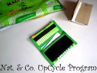 ポテトチップス・プラスチック空袋のアップサイクル