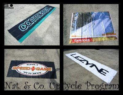 自転車屋さん使用済みバナー。リサイクル大作戦!