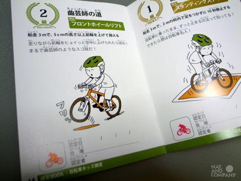 自転車キッズ検定BOOKのイラスト