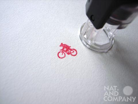 自転車キッズ検定、熊さんハンコの企画