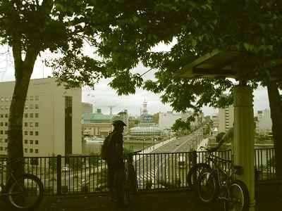 釧路の街を自転車で。